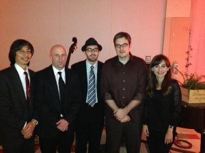 The jazz quartet at the dinner with our faculty and students
