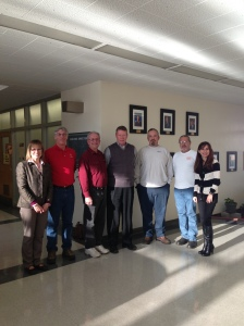 Liz Rozell, Dan Johnson, Four Evaluators, Sonya ChristianNATEF evaluation visit. Feb 13, 2013