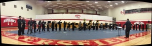 Bakersfield College Brass and Percussion performing in the gym. March 21, 2013.