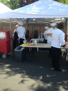 Culinary Students at the Gardenfest April 20 2013