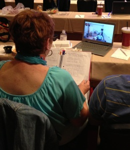 Skyping from Vegas to Bakersfield at the Sloan Emerging Tech Conf April 9 2013