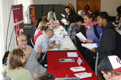 Students Visit Information Tables at Resource Fair