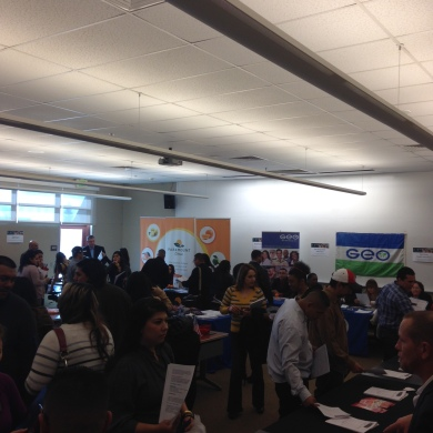 Visitors at Delano Campus Job Fest