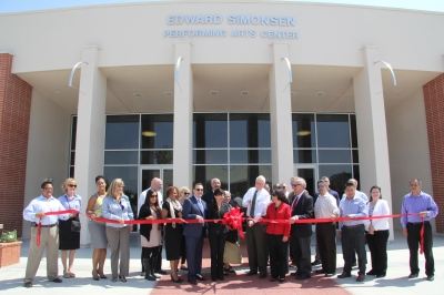 Simonsen Performing Arts Center ribbon-cutting