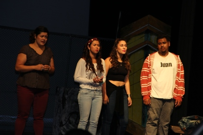 Members of the SF Youth Theater during Friday's performance of