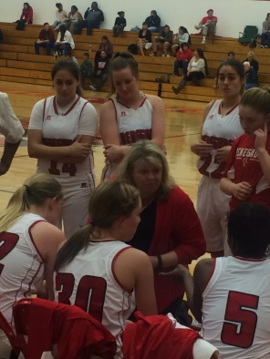 Coach Dahl with her students