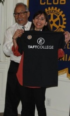 Misono presenting Christian a gift Rotary West June 1 2016