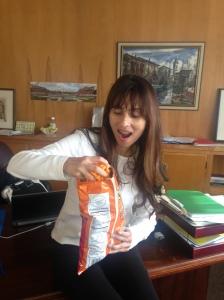 enjoying gift from art department feb 14 2014