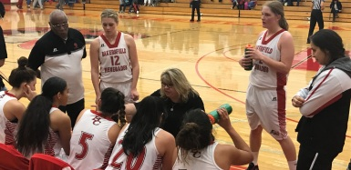 Coach Paula Dahl and winning team