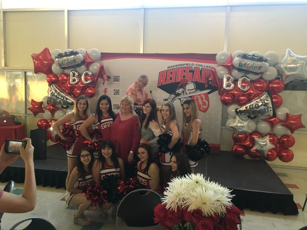 Becky Whitson with Cheer Team April 21 2017.JPG