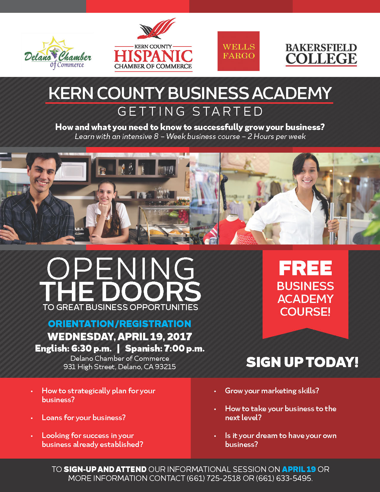 Kern County Business Academy by the Kern County Hispanic Chamber of Commerce