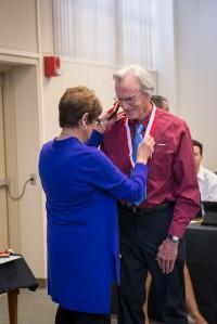 Prof Emeritus Dale Gradek with Kay Meek April 13 2017