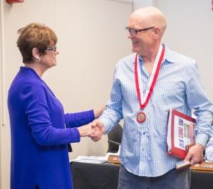 Prof Emeritus Mark Dommer with Kay Meek April 13 2017