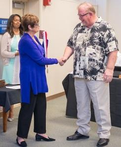 Prof Emeritus Pat Coyle with Kay Meek April 13 2017