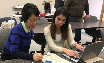 Qiu Jimenez and Talita Pruitt Accreditation Lab March 31 2017