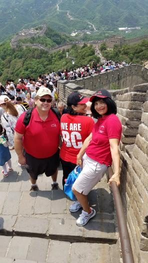 Jason Stratton and family on the Great Wall of China May 29 2017