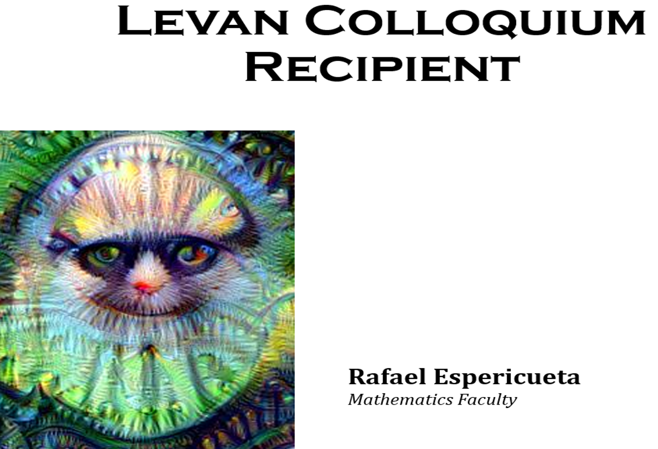 Rafael Espericueta Levan Faculty Colloquim May 12 2017