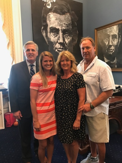 Jeff Chudy in Washington DC with Kevin McCarthy July 2017