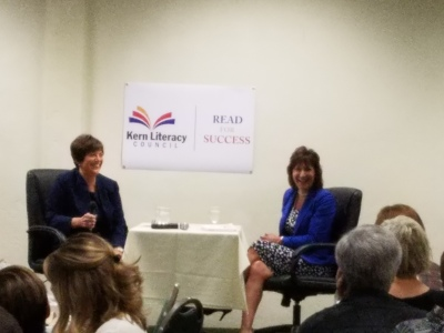 Barbara Grim-Marshall and MAry Barlow discuss importance of literacy in their lives and in our community