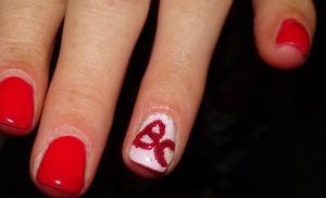 nail art showing BC pride