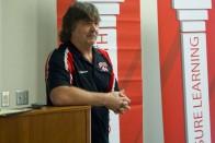 Steven Holmes presenting to Tom Epstein