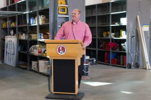 Bill Potter Speaking at the M&O Open House