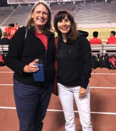 Janet Tarjan and Sonya Christian at Mens Soccer october 13 2017