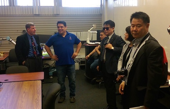 John Heffner with Manny Fernandez and Korean Delegation