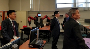 Korean Delegation in Robotics class Oct 15 2017