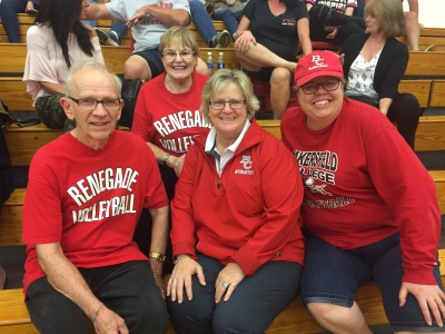 Mr and Mrs Packer October 13 2017 Renegade Volleyball