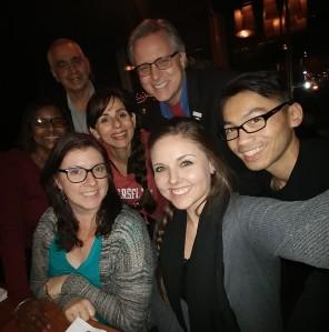 Selfie of BC Team at dinner Oct 26 2017