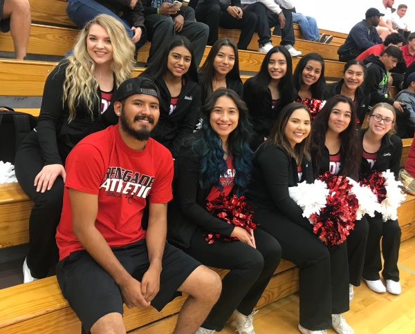 Cheer team out to support Renegade Volleyball Nov 10 2017
