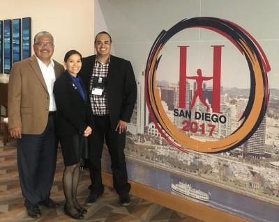 Corny Rodriguez, Connie Gonzales, Manuel Rosas HACU 2017