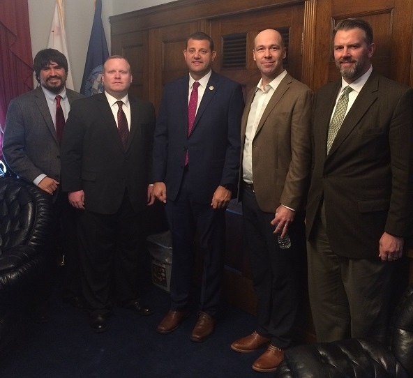Oliver Rosales, Andrew Bond, Rep. David Valadao, Josh Ottum, Tim Robison (NEH)