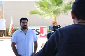 Wesley Barrientos being interviewed Nov 8 2017
