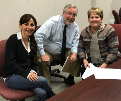 Sonya Christian, Tom Burke, Jill Board Dec 19 2017