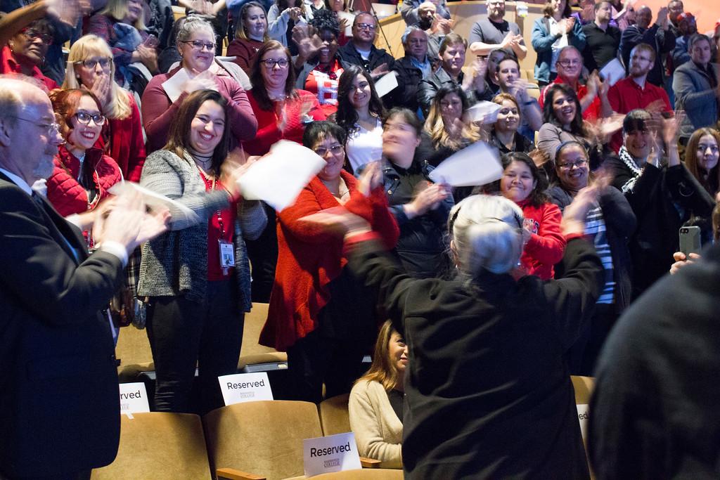 Audience applauding Nan Spring 2018 Opening Day