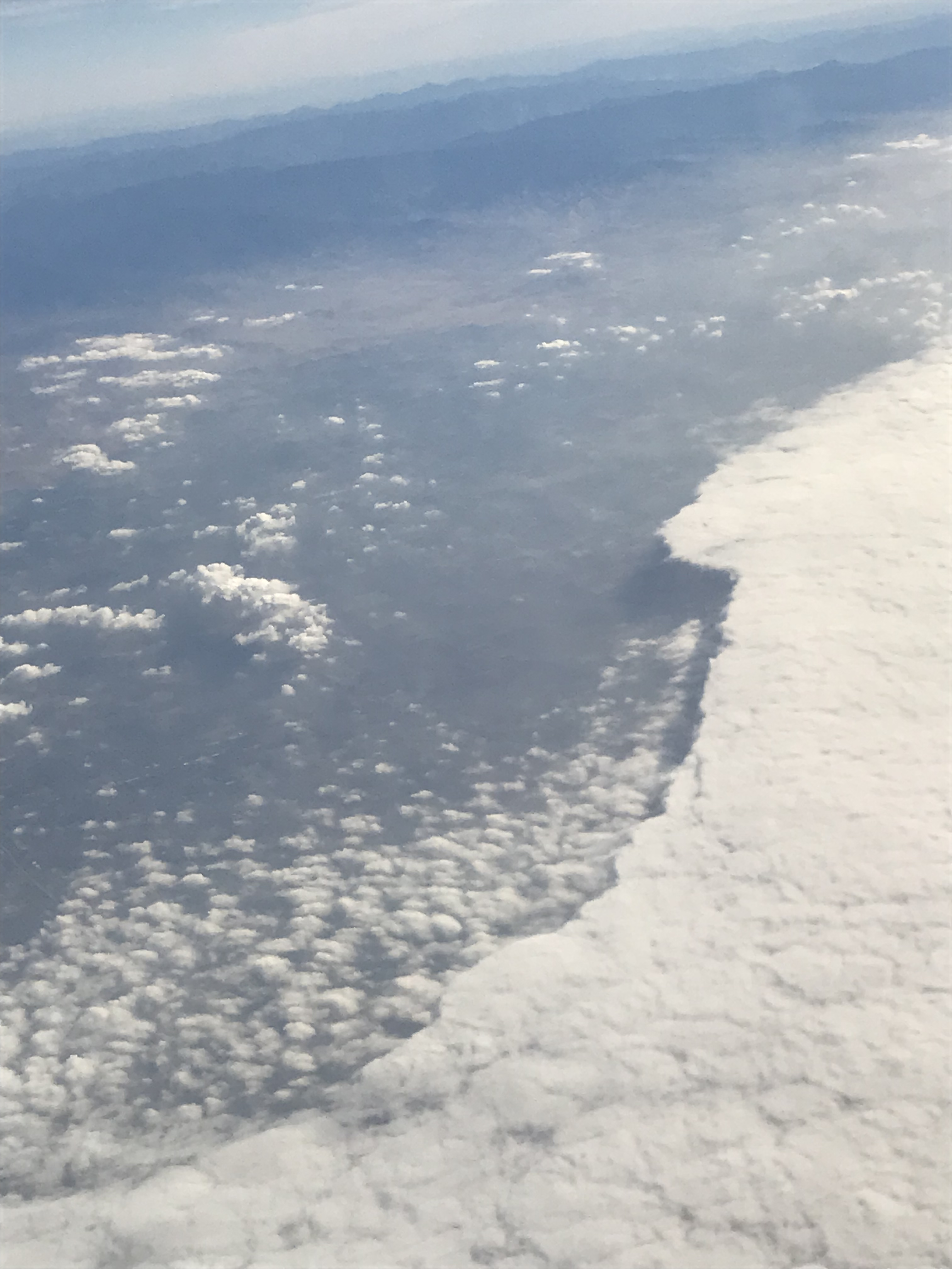 Clouds on flight from PDX to BUR Jan 6 2018