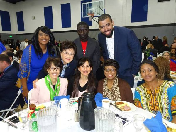Mayor Karen Goh with Sonya Christian and BC gang MLK event