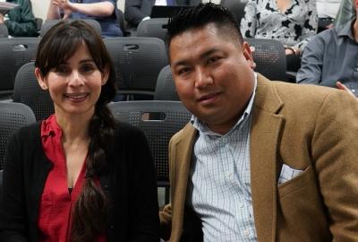 Sonya Christian and Romeo Agbalog