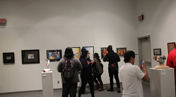 Students Admiring Art show