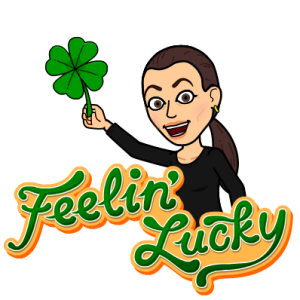 Sonya Christian Bitmoji Feeling Lucky