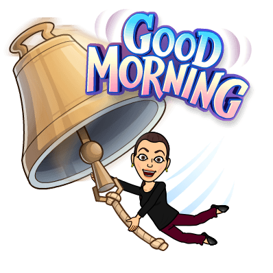 Sonya Christian Bitmoji Good Morning