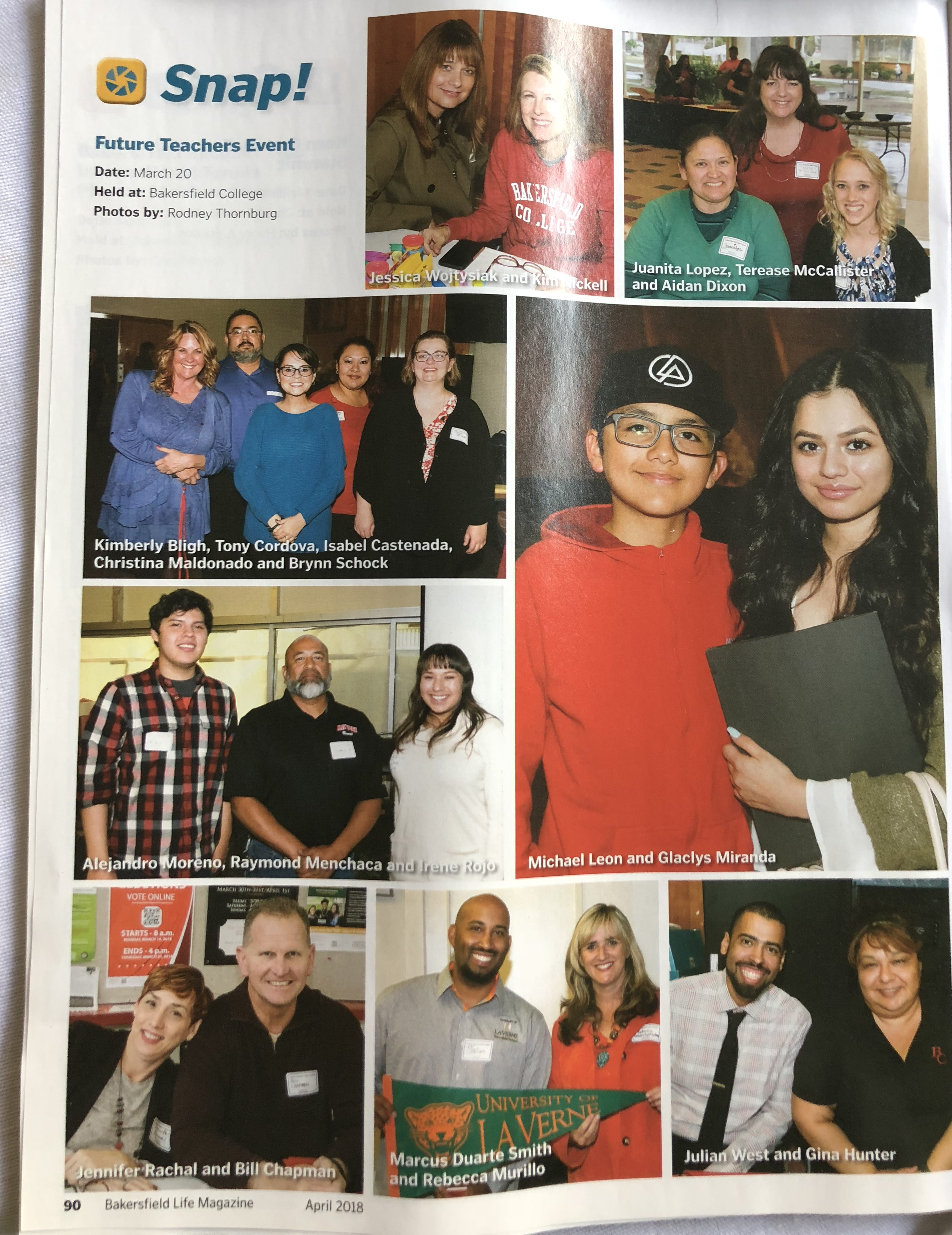 Bakersfield Life Magazine March 31 2018 Future Teachers Event Photos by Rod Thornburg