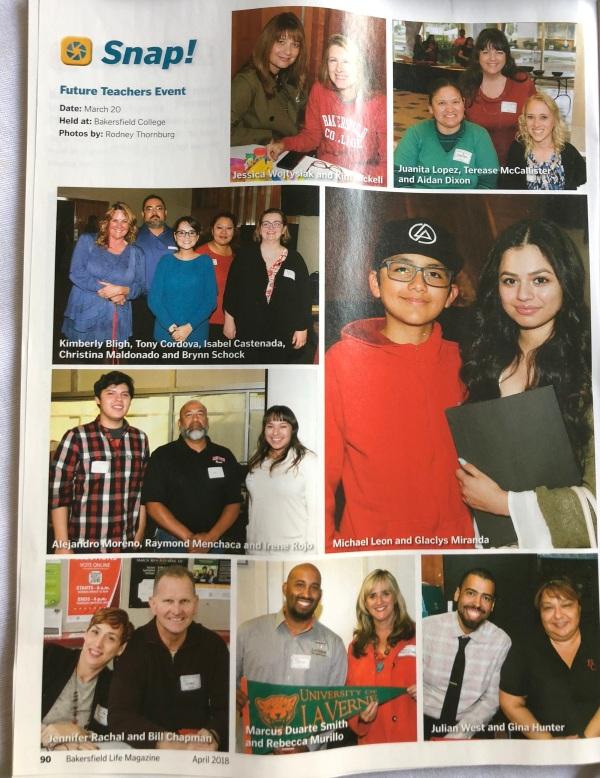 Bakersfield生活杂志2018年3月31日Rod Thornburg的未来教师活动照片