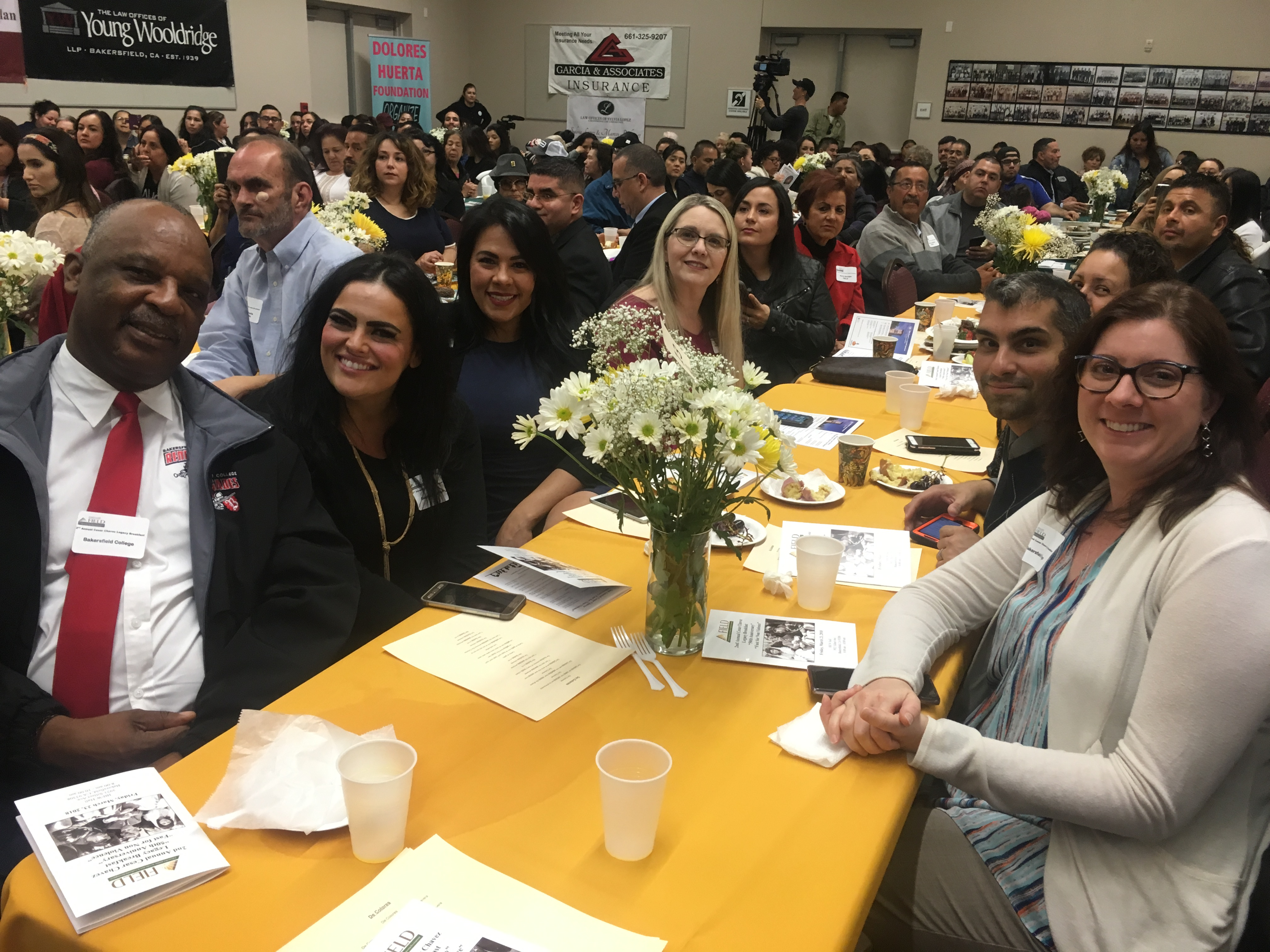 BC table at Cesar Chavez Breakfast
