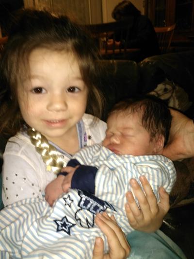 Ximena and baby Leo.
