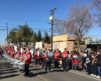 Drumline at Black History Month Parade