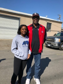 Ishamel Kimbrough and his daughter