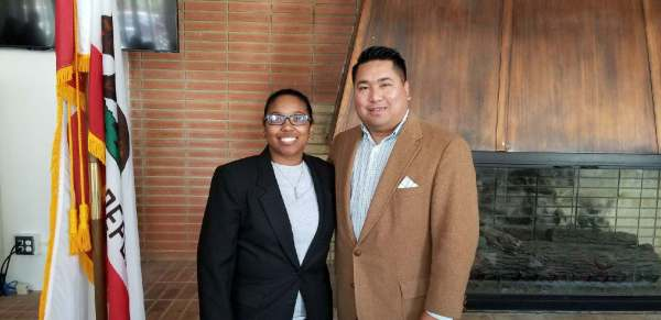 Rayven Acosta Webb and Romeo Agbalog